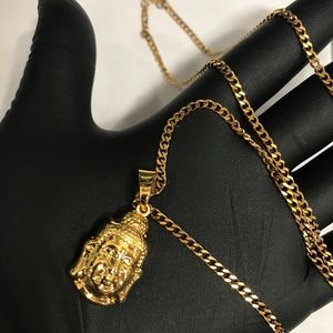 Jewelry - 18k Gold plated buddha necklace